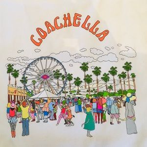 Coachella Canvas Tote Bag
